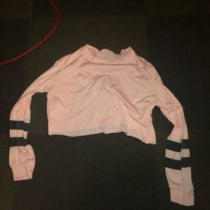 cropped pink long sleeve